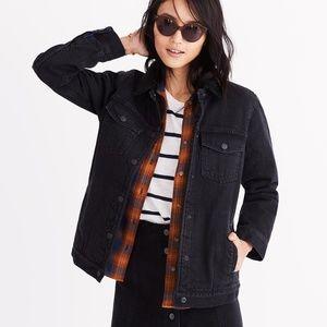 NWT Oversized Sherpa Jean Jacket